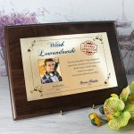 certyfikat w drewnie prezent z okazji urodzin