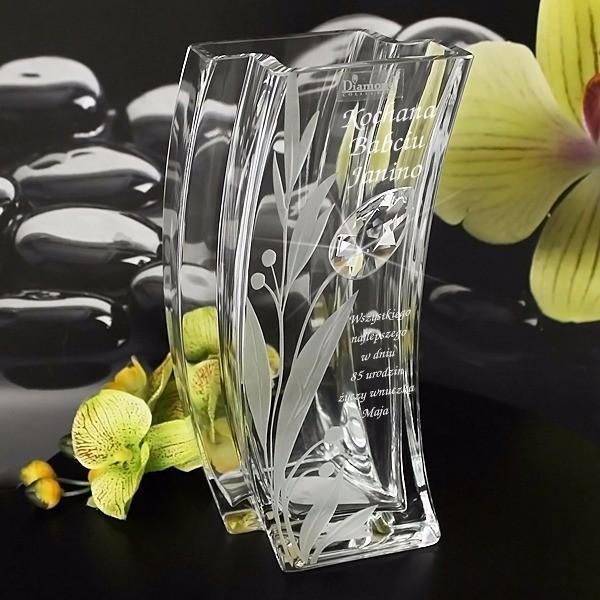 wazon z kryształem swarovski