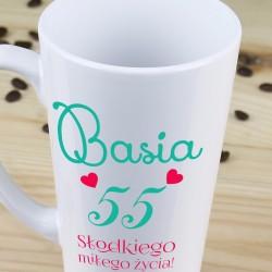kubek latte + nadruk