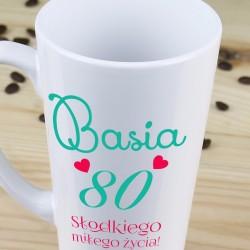kubek latte - prezent na 80-te urodziny