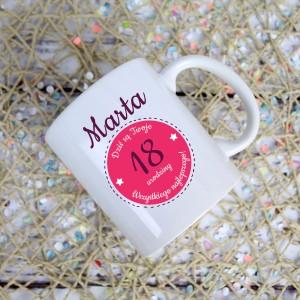 kubek z personalizacją - prezent na 18-te urodziny siostry