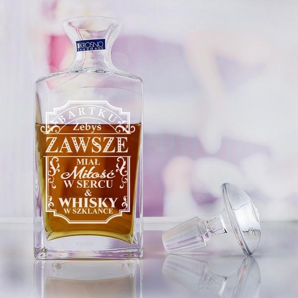 karafka szklanka z grawerem dedykacji na prezent
